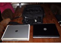 Dell Laptops x 2 plus case and power supplies