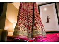 Pink / Red Wedding Lengha - Size 6