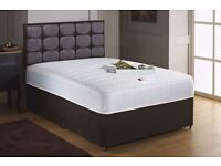 SINGLE/DOUBLE / KING SIZE QUALITY MATTRESS WITH DIVAN BED BASE UK MANUFACTURED!!
