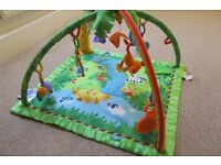 Jumperoo, playmat and cot mobile