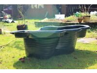 Heavy duty preformed garden pond