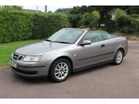 2005 ( 54 ) SAAB 9 - 3 LINEAR CONVERTIBLE 2 LITRE IN SILVER