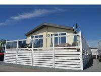 Luxury Static Caravan for sale with decking included at Sandy Bay Holiday Park contact Darren