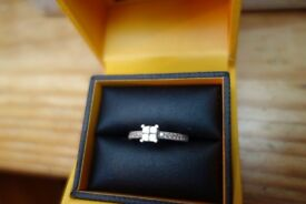 Goldsmith 0.30 carat diamond white gold ring