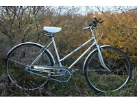 Ladies Vintage Challenge Celeste Town Bike 19 Inch Fully Serviced With Lights