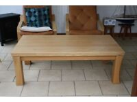 Bargain! Lovely chunky solid oak coffee table