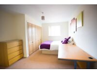 En-suite double room in modern professional home. Close to city centre. Bills in. No fees!