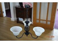 Twist Style Wrought Iron 3 Way chandelier Light Ceiling Fitting in Matt Black