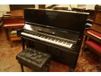 Steinway & Sons upright piano, tuned and FREE UK delivery