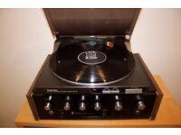 Vintage stereo amplifier + Technics turntable + Sony speakers