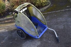 Burley double bike trailer for 2 kids shopping allotment tools tatty but works fine cb1 £20