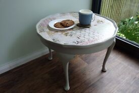 Pretty Vintage Upcycled Decoupage Coffee Table