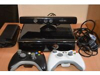 Xbox 360 slim 250GB .Great condition +74 games