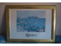 """Beauiful Large Gold Framed """"Cezanne"""" Picture - VGC"""