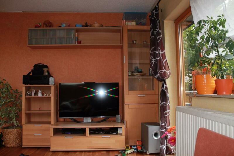 wohnwand 2 vitrine tv tisch audio regal teil massive buche in rheinland pfalz raubach ebay. Black Bedroom Furniture Sets. Home Design Ideas