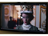 """55"""" SEIKI FULL HD LED TV WITH BUILT IN FREE VIEW IN GREAT CONDITION."""