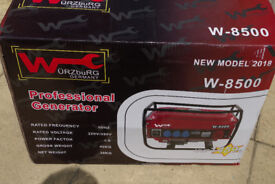 Wurzburg W-8500 Generator 2018 model, brand new with original packaging and never used.