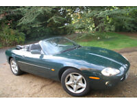 Jaguar XK8 Convertible : British Racing Green with powered Black Hood