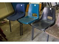 Assorted Plastic and Folding Chairs