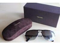 Men's Tom Ford Nils Italian Aviator Sunglasses (Matte Black) - Brand New