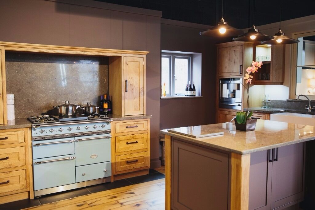 Ex Display Solid Oak Kitchen  Island and Lacanche. Ex Display Solid Oak Kitchen  Island and Lacanche   in Matlock