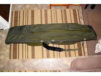 Diawa 9 rod holdall made to take 50mm butt rings very good condition