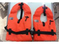 2 British Standard life jackets plus a Bouncy aid jacket