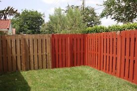 Do you want your Garden fence/Shed- painted /Good rates /online qoute /clean job