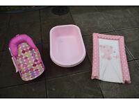 Baby Bath Seat, Bath and Free Changing Pad
