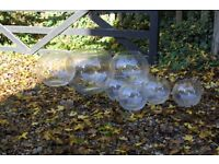 8 x assorted glass bubble bowl vases