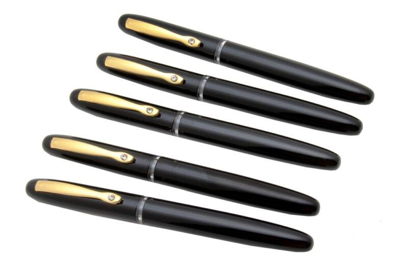 LUOSHI High Quality Brilliant Golden 22KGP 0.7mm Nib Metal Fountain Pen #237