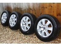 "Set of 4 Genuine VW T5 Cartagena 16"" alloy wheels with tyres from my 2012 T5.1 Kombi"