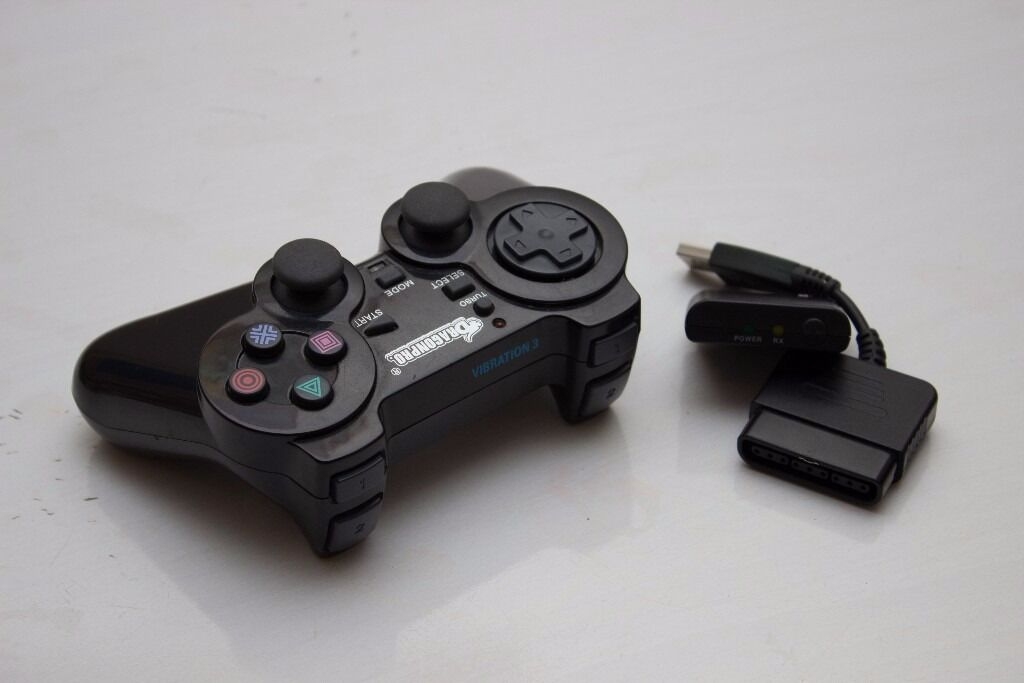 PS3/PS2/PS1/PC USB 4in1 2.4GHz Wireless Remote Control/ DVD/Blue Ray Turbo Vibration 3 Controller