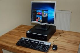 HP Windows 10 PC with Monitor. Wi-Fi Internet. 3.2GHz Dual Core, 4GB RAM Excellent Condition.