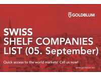 Swiss shelf companies available! Licensed Trust/Foundation and Asset Management as well!