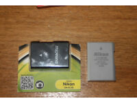 2 X Nikon EL14a Batteries