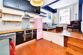 BARING STREET N1: UNIQUE SPLIT LEVEL 1 BED GARDEN FLAT- AVAILABLE NOW - NEW BATHROOM - WOODEN FLOORS