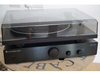Complete record player system (Project Essential 2 turntable, Cambridge AM1 amp, Gale Speakers)