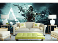 Assassins Creed wallpaper||Peel & stick||self adhesive and removable||High Quality materials || DIY