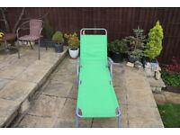 Sun lounger, folding chair garden