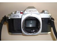 CANON AV1 CAMERA WITH VIVITAR 28-70mm Zoom lens