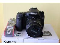 Canon EOS 70D DSLR Camera plus extras
