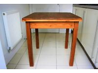 Rustic Solid Antique Pine Kitchen/Occasional Table