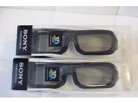 Sony 3D Glasses TDG-BR250 * 2 Pairs