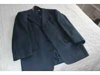 Mid Navy 3 button Blazer, fully lined, size 40 inch.