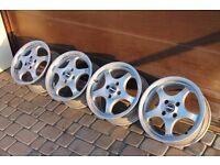 """15"""" BORBET T alloys 4x100 VW Golf polo caddy corrado jetta bmw e30 mazda mx5 corsa astra civic CLIO"""