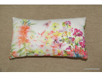 BOUCHARA COLLECTION Pink Floral Oblong Cushion and Inner Pad 20ins x 11ins