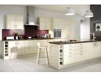 7 Piece Kitchen Units - Cream Gloss - BRAND NEW