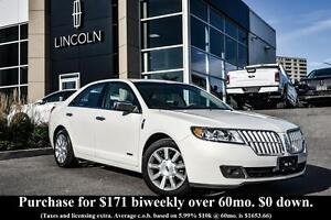 2012 Lincoln MKZ SEDAN - HEATED/COOLED FRONT SEATS - BLUETOOTH -