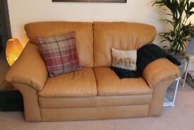 Comfortable leather sofa in great condition!